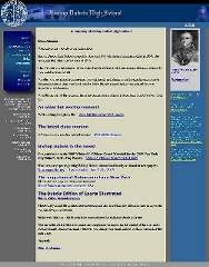 The original website of Bishop Dubois High School