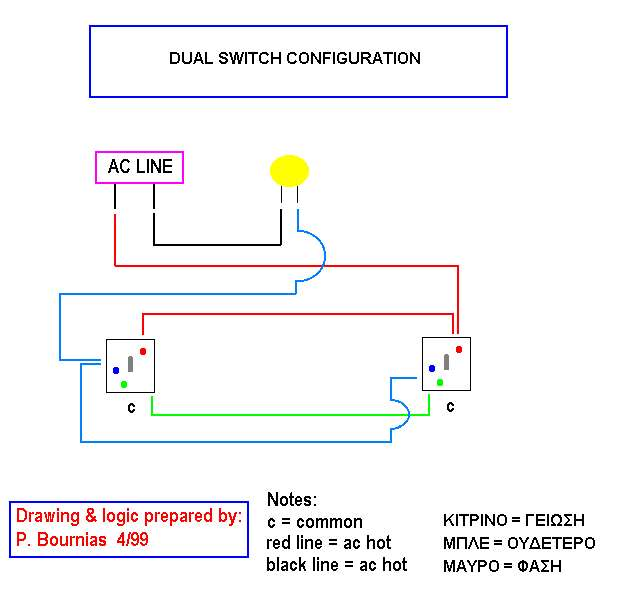 how to connect 3 independant electrical switches diagram