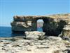 On the island of Gozo is this beautiful archway of stone