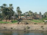 From the Nile cruise, a picture showing the greenery along