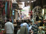 The old suk or shopping area in Cairo