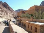 The monastery of St. Katherine's in the Sinai with a partial