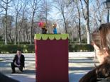 It is a rare thing today to find puppet shows.  The Greeks