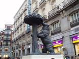 One of the most famous trademarks of Madrid, a bear striving
