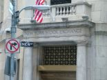 The entrance to the New York Stock Exchange.  Got a hot tip?