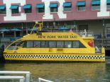 One of the new water taxis on the Hudson River in downtown.